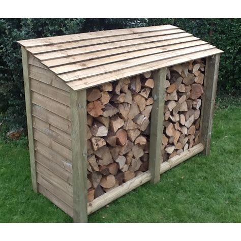 shed style roof large log store next day delivery large log store