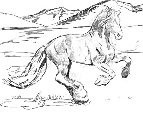 horses to color free printable realistic coloring pages az