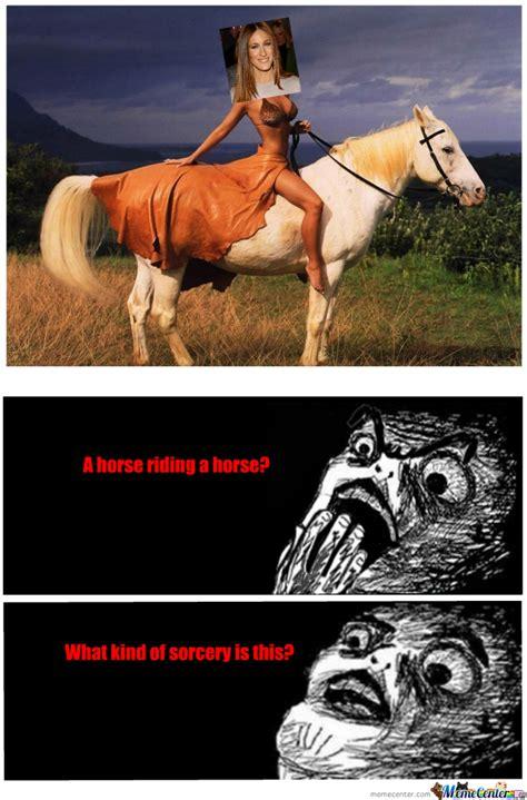 Horse Riding Meme - a horse riding a horse by brandini734 meme center