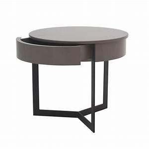 Table De Chevet Ronde : table de chevet ronde ~ Teatrodelosmanantiales.com Idées de Décoration