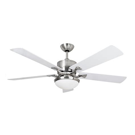 Brushed Nickel Ceiling Fans With White Blades by Fantasia Delta 52 Inch Remote Brushed Nickel Low