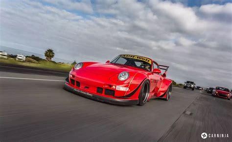 guards red porsche rwb carrera  rare cars  sale
