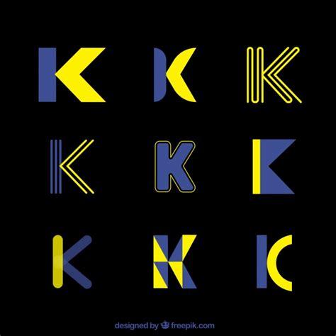futuristic logo letter  template collection vector