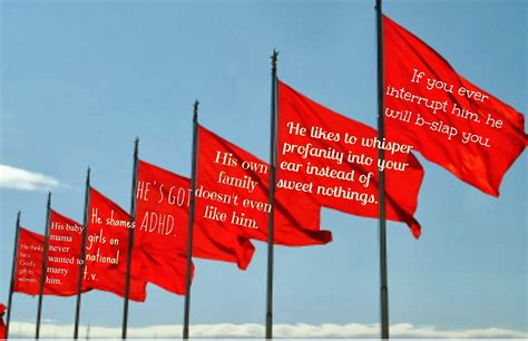 Red Flag Relationship Quotes Quotesgram