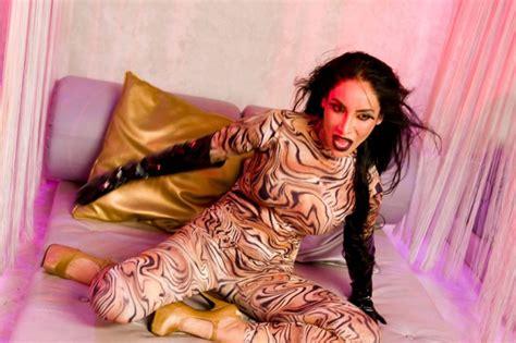 Sofia Hayat Photoshoot - Tiger Lycra Catsuit, Leather ...