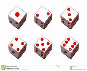Dice 1 To 6 Royalty Free Stock Images - Image: 37196239