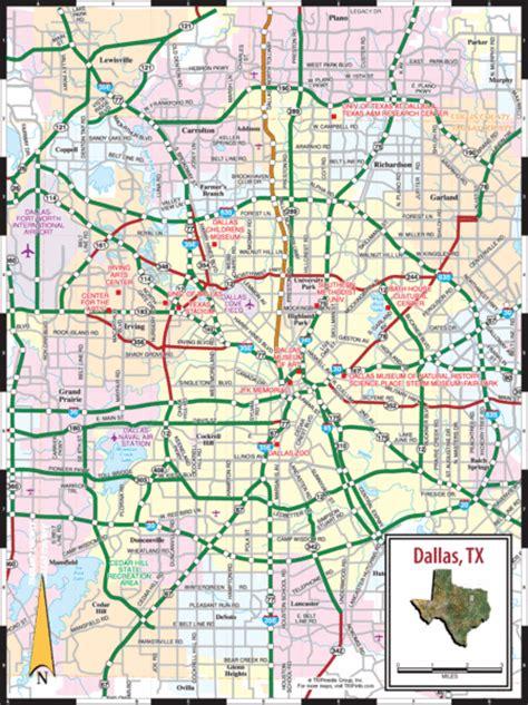 dallas map dallas tx mappery