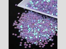 Stars Shape Holographic Purple Color Laser Nail Glitter