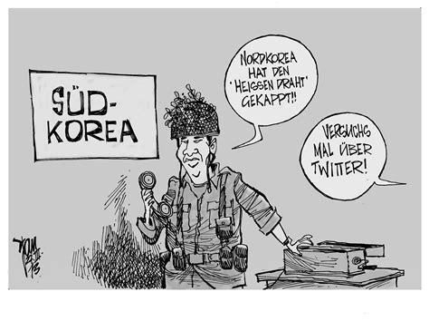 aktuelle karikaturenkorea konflikt