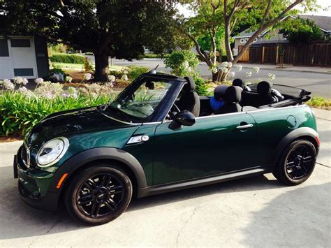 fs  green mini cooper  convertible fully loaded