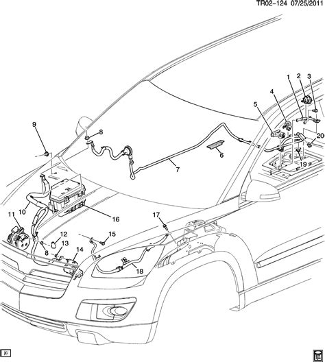 dead battery posts  engine compartment gmc acadia