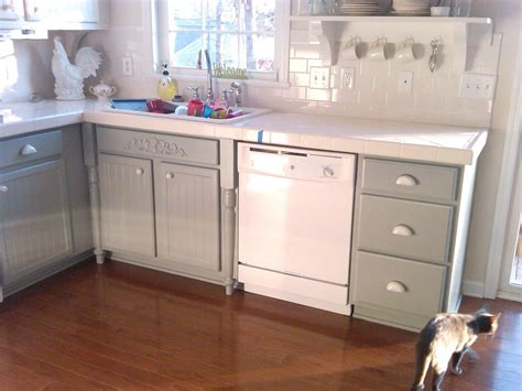 how to paint oak cabinets remodelaholic painting oak cabinets white and gray