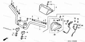 Honda Atv 2005 Oem Parts Diagram For Handlebar