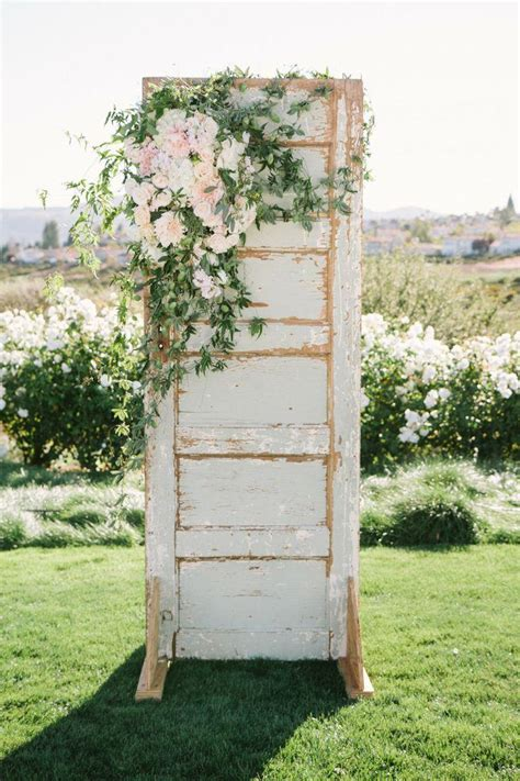 shabby chic wedding backdrop ideas shabby wedding rustic ceremony backdrop 2059464 weddbook