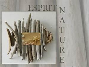 Cadre En Bois Flotté : un cadre photo poisson au fil de l 39 eau bois flott ~ Teatrodelosmanantiales.com Idées de Décoration