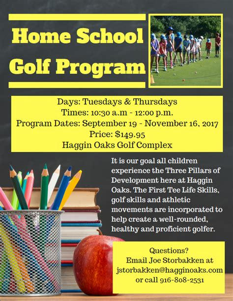 Home School Golf Program Now Available At Haggin Oaks