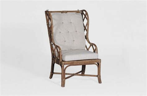 antique transitional rattan occasional chair