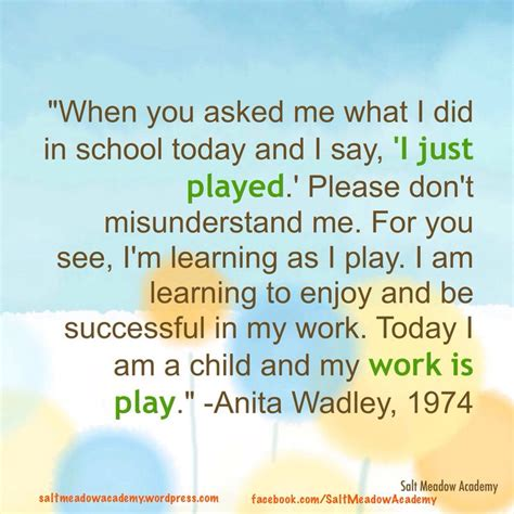 Play Quotes For Early Childhood Education