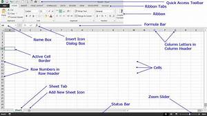Understand The Basic Excel 2013 Screen Elements