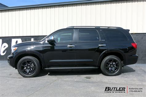 toyota sequoia   black rhino mozambique wheels