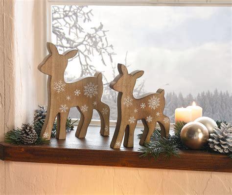 Weihnachtsdeko Figuren Garten by Reh Rehe Deko Figuren Weihnachten Weihnachtsdeko Holz