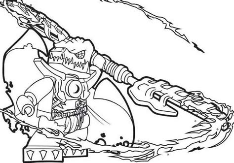 Lego Chima Cragger Coloring Pages Half Ghost Mole Digging