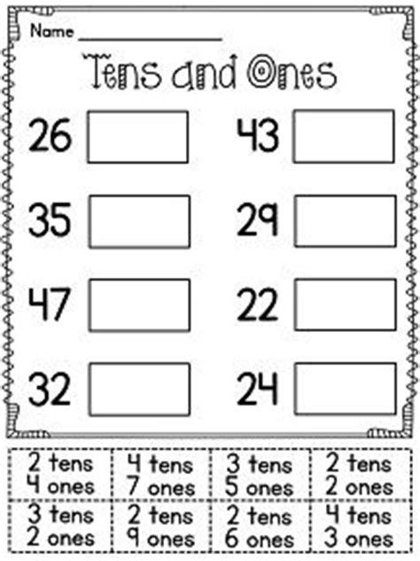 1000 ideas about tens and ones on place