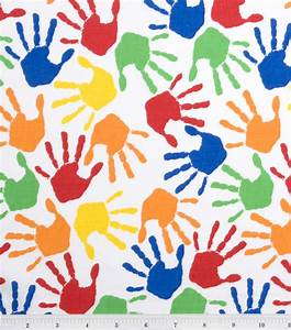 Novelty Cotton Fabric Hand Prints at Joann com