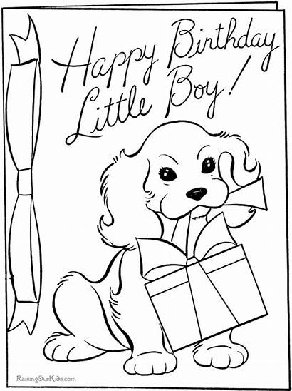 Coloring Birthday Happy Pages Printable