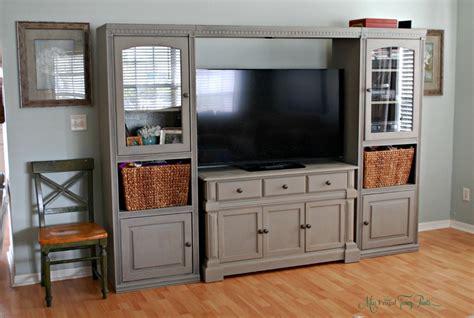 entertainment center for living room diy chalk paint entertainment center makeover miss