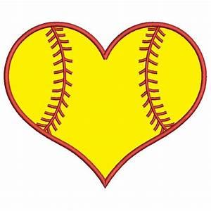 softball heart clipart - Clipground