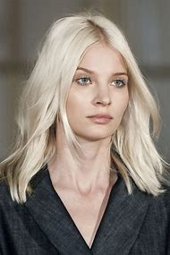 Platinum Blonde Medium Length Hairstyles
