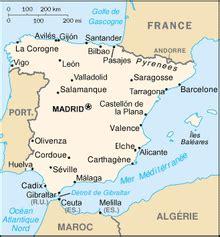 Carte D Espagne Avec Villes by Villes D Espagne Wikip 233 Dia