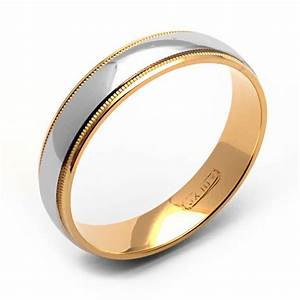 Rex Rings Men39s 10 Kt White And Yellow Gold Wedding Band