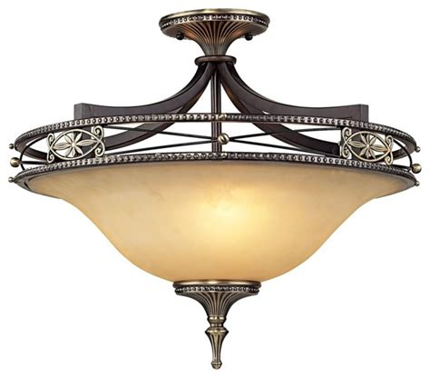 georgian court collection 21 quot wide semiflush ceiling light