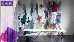 Comment Coller Du Papier Peint : poseur papier peint poser du papier peint 26jpg pp ~ Dailycaller-alerts.com Idées de Décoration