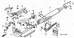 Honda Motorcycle 1998 Oem Parts Diagram For Muffler