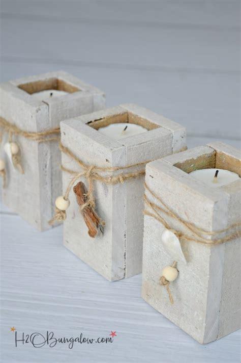 diy coastal tealight candle holders hbungalow