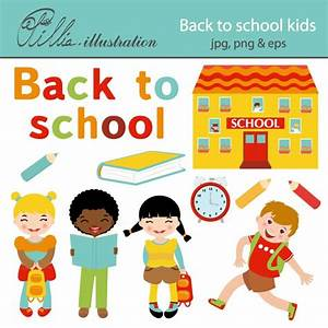 Back to School Kids Clipart (48+)