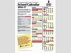 Jcps 201617 Calendar Calendar Template 2018