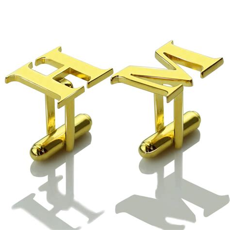 aliexpress buy gold and silver mens embossed sted gold plated silver personalized men initial cufflinks