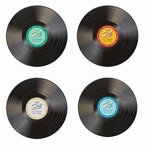 Set De Table Vinyl : mobilier table set de table disque vinyle ~ Teatrodelosmanantiales.com Idées de Décoration
