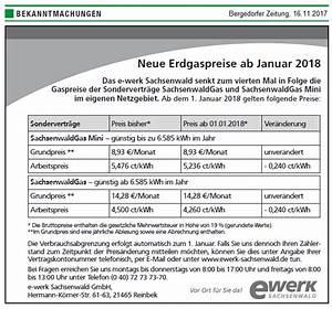 Abschlag Strom Berechnen : e werk sachsenwald erdgaspreise sinken zum 1 januar 2018 ~ Themetempest.com Abrechnung