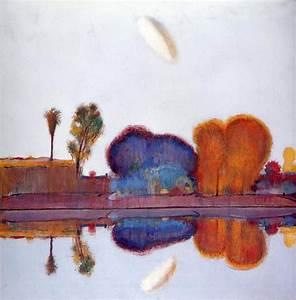 Lake Landscape - Wayne Thiebaud Wallpaper Image