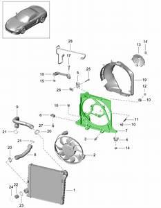 Porsche 991 Radiator Water Fan Bracket 99110615502