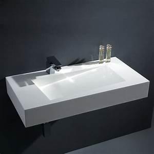 Waschbecken Ohne Wasseranschluss : stoneart waschbecken bb0874e mineralguss wei 90cm ~ Markanthonyermac.com Haus und Dekorationen