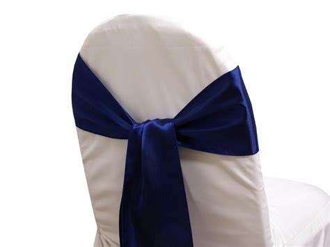 satin chair sash navy wedding superstore express