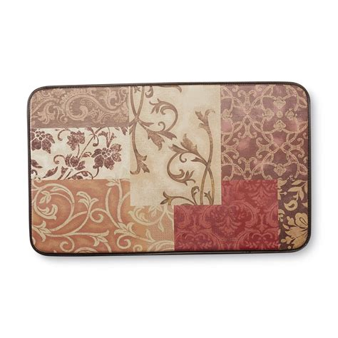 chef kitchen floor mats chef mats cushioned kitchen floor mat damask home 5363