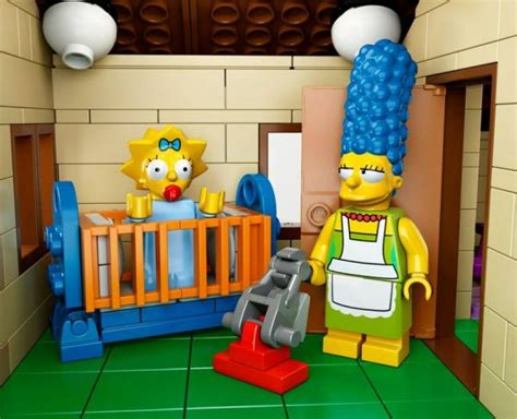 lego chambre de the simpsons house in lego is now official neatorama