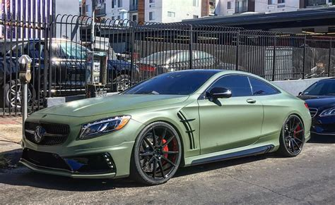matte green wald mercedes s63 coupe in matte green